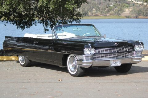 great cruiser 1964 Cadillac Deville convertible restored for sale