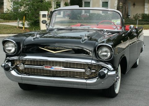 excellent 1957 Chevrolet Bel Air Convertible restored for sale