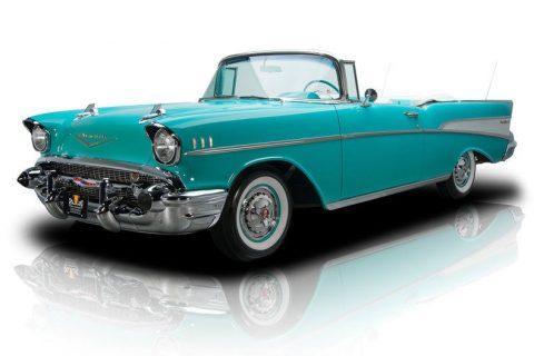 pristine shape 1957 Chevrolet Bel Air convertible restored for sale