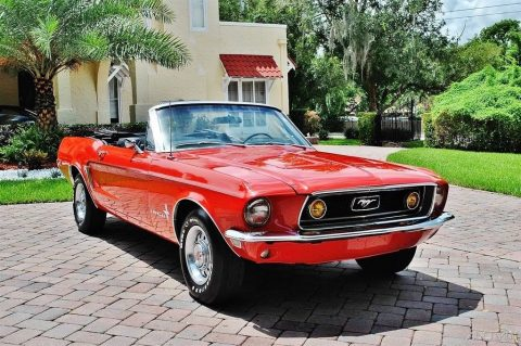 highly detailed 1968 Ford Mustang convertible restored for sale