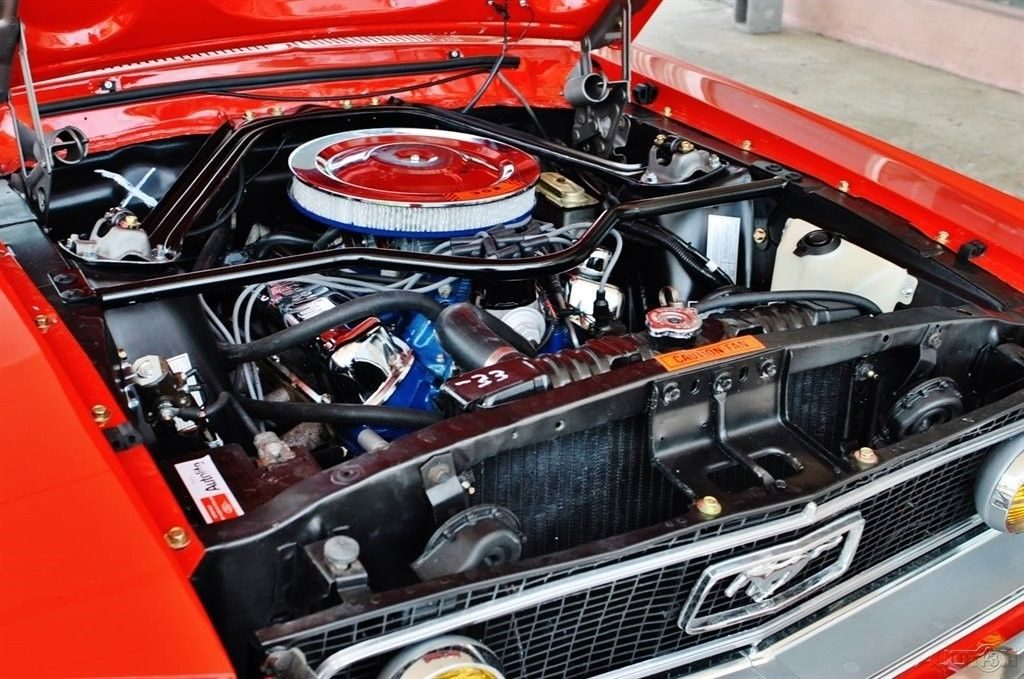 highly detailed 1968 Ford Mustang convertible restored