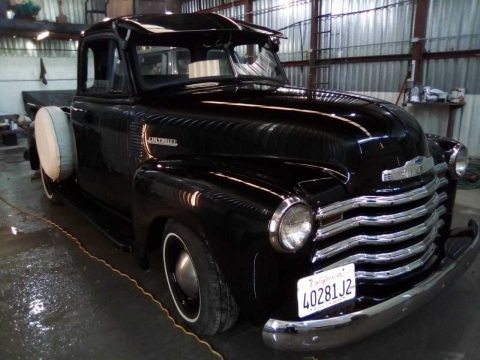 1952 Chevrolet 5 Window Truck 3100 Restored (Black Diamond) for sale