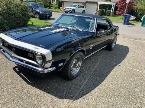 four on the floor 1968 Chevrolet Camaro SS 396 restored for sale