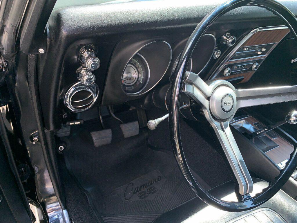 four on the floor 1968 Chevrolet Camaro SS 396 restored